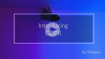 Introducing GDPR